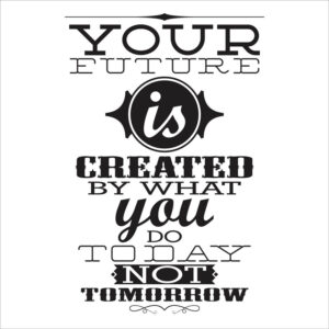 استیکر دیواری انگیزشیyour future