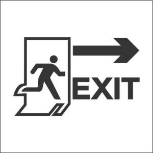 استیکر علامت راهنمای مسیر خروج