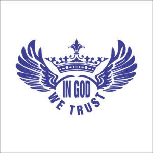 استیکر in god we trust-بال