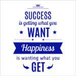 استیکر دیواری انگلیسی انگیزشی success is getting what you want